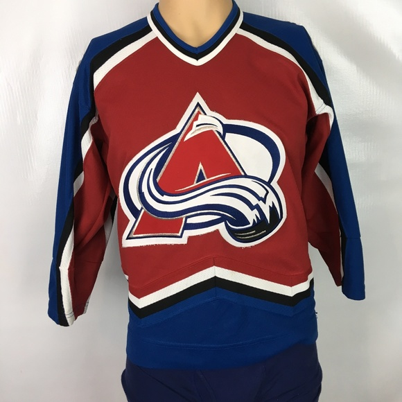 size 40 e07a3 872d1 COLORADO AVALANCHE Youth NHL Hockey Jersey Sz L/XL